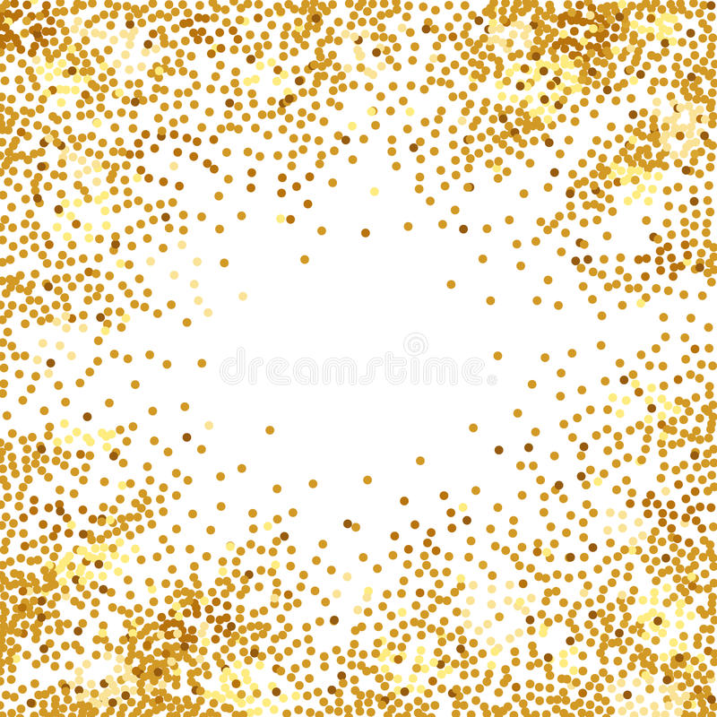 abstract golden confetti background stock vector