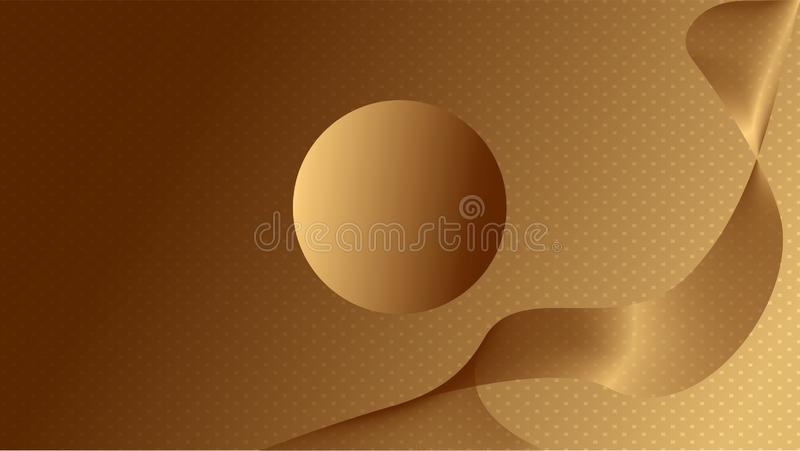 Abstract golden curve motion illustration vector illustration