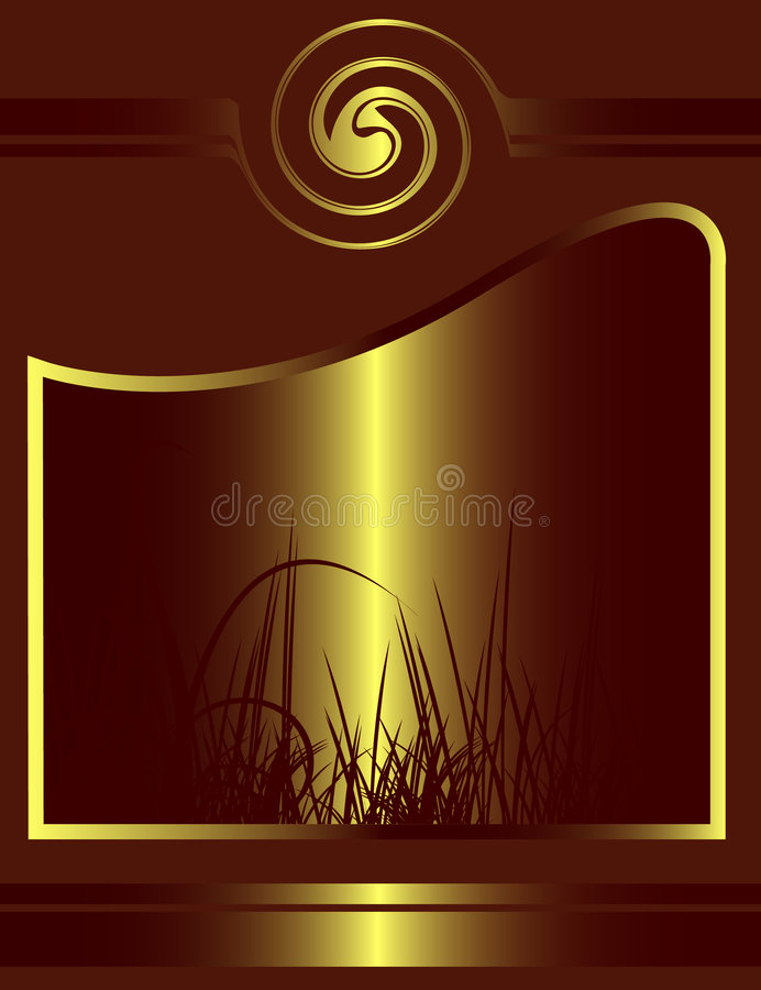 Download Abstract Golden Floral Design Stock Vector - Image: 6474533