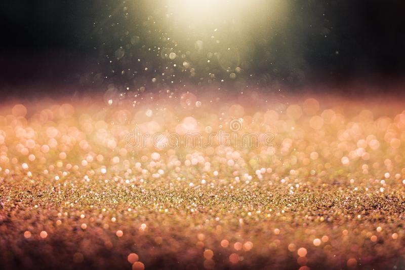 Abstract golden glitter royalty free stock photos