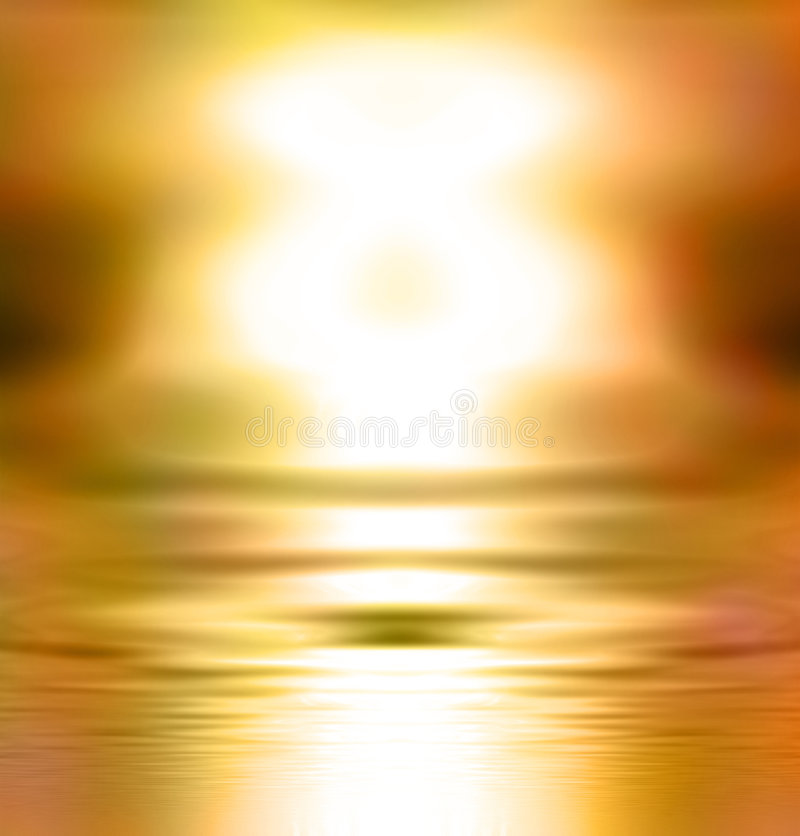 Free Abstract Golden Glowing Sunset Royalty Free Stock Photo - 5401285