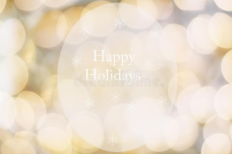 Abstract of Golden Happy Holidays stock photos