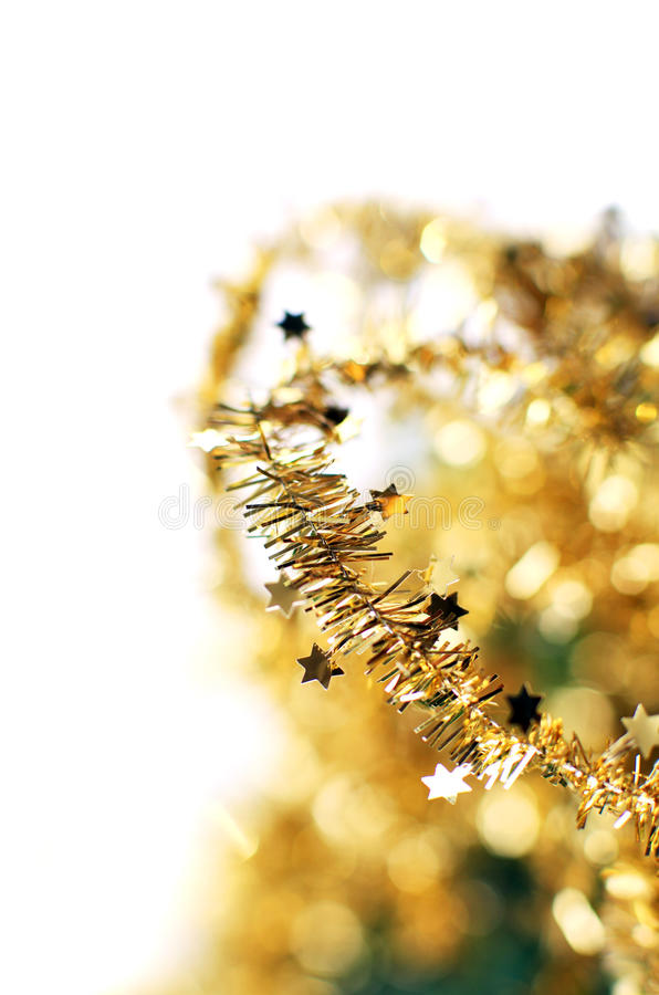 Abstract golden holiday stock image