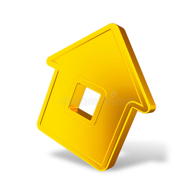 Download Abstract golden house stock illustration. Image of real - 14862423