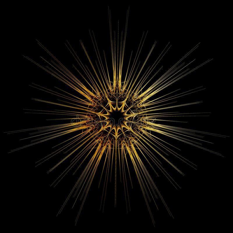 Free Abstract Golden Lines Flash On Black Background. Vector Eps10 Illustration Royalty Free Stock Images - 203224779