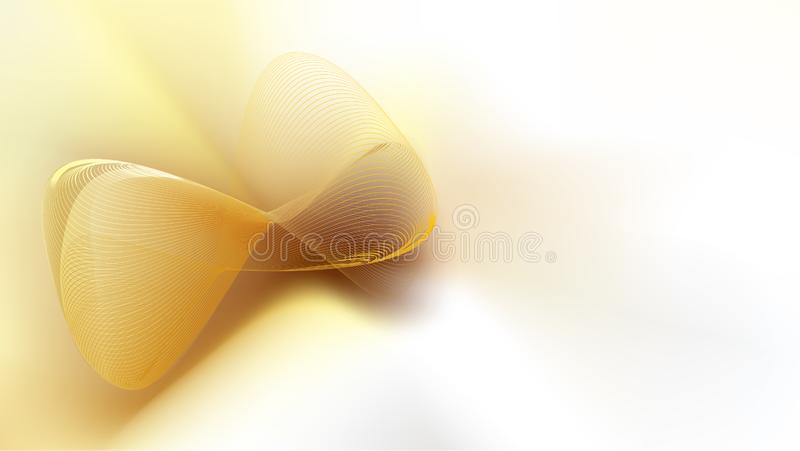 Abstract golden mesh  on white satin silk background. With copy space for text. EPS10, vector and illustration. Size ratio 1920x1080 px vector illustration