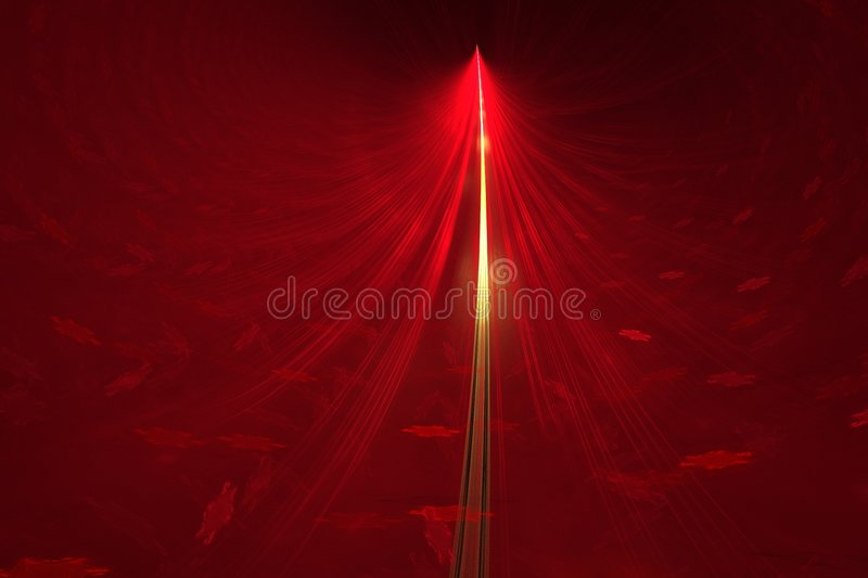 Abstract Golden Red Christmas tree