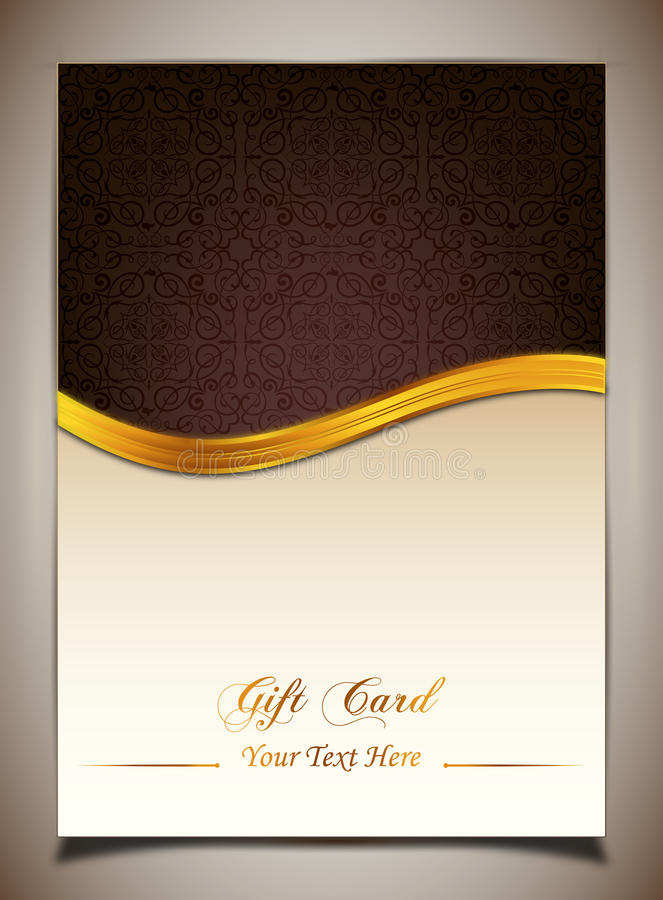Abstract golden ribbon and vector background stock illustration