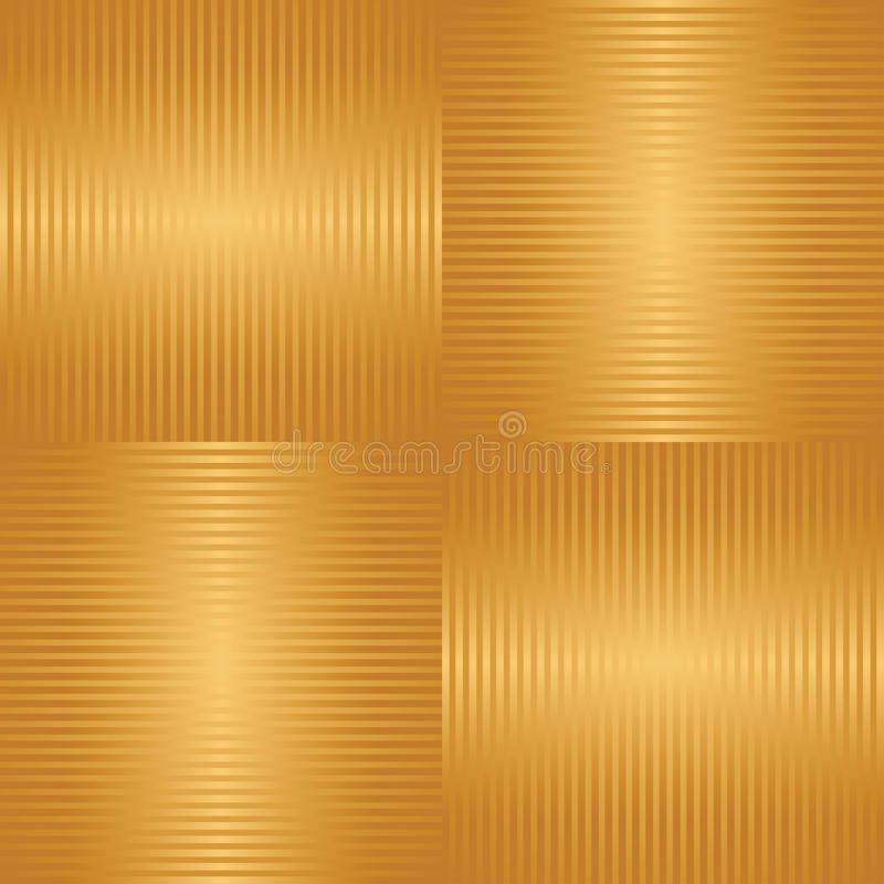 Abstract golden striped seamless background stock illustration
