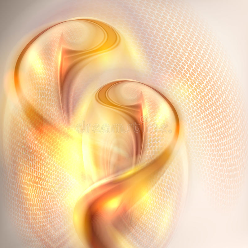 Abstract golden swirl background royalty free illustration