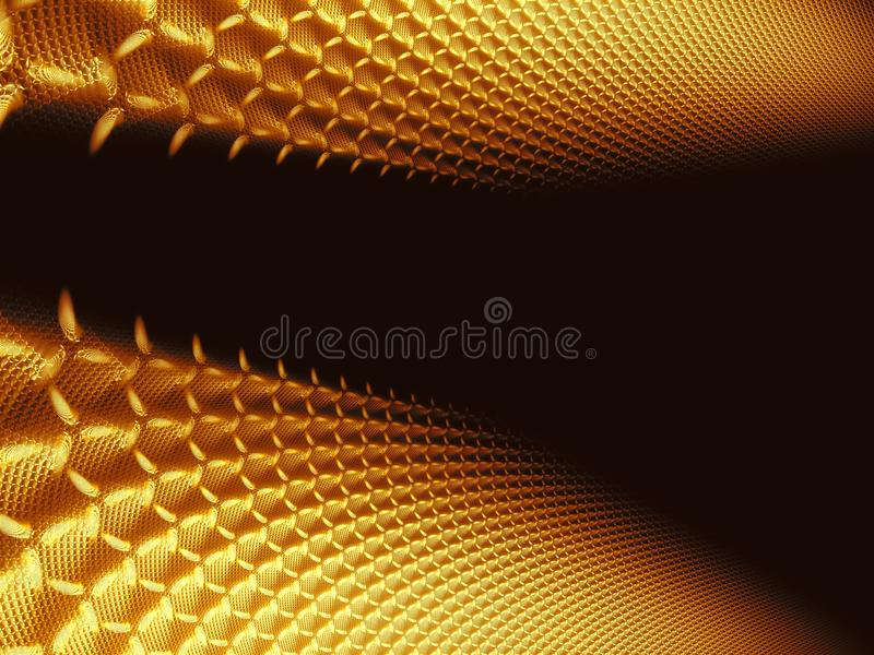 Abstract golden technology background - digitally generated image royalty free illustration