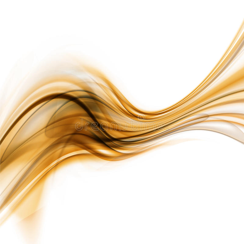 Abstract Golden Waved Background vector illustration