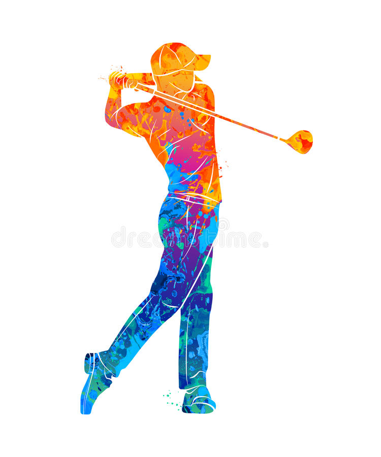 Golf Sport Silhouette vector illustration
