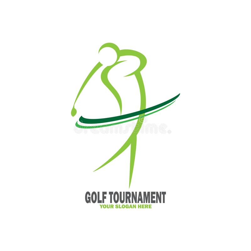 Abstract golf tournament logo royalty free illustration
