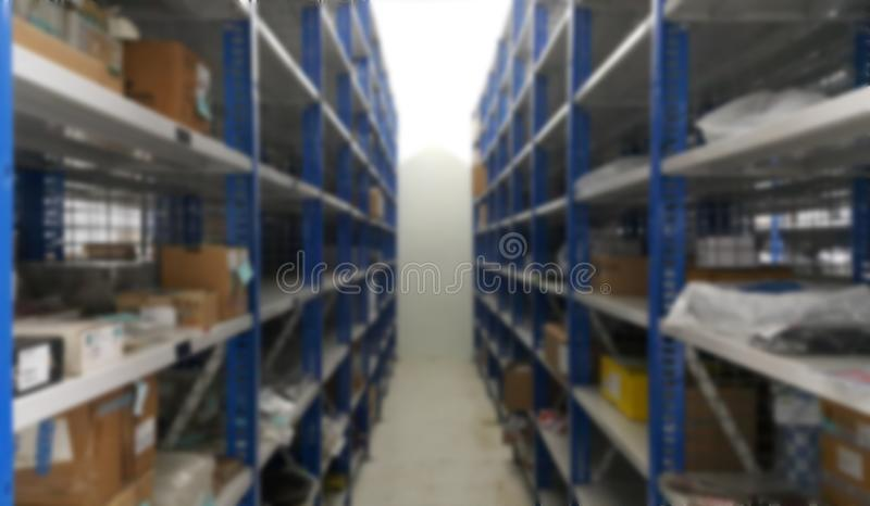 Abstract goods and lights supermarket interior for blurred background stock images