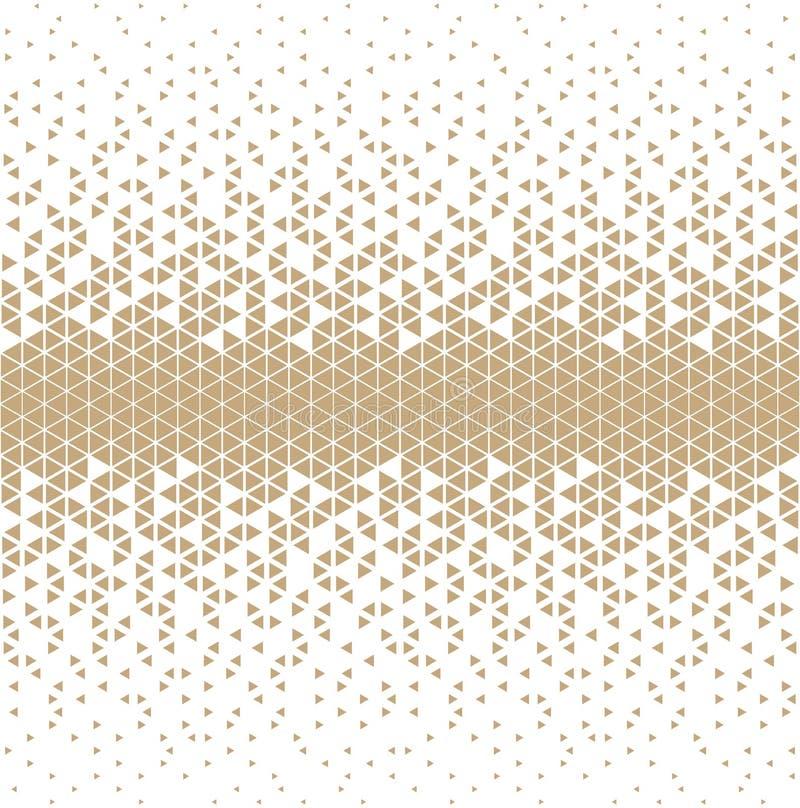 Abstract gouden geometrisch van de het ontwerpdruk van de hipstermanier de driehoekspatroon royalty-vrije illustratie