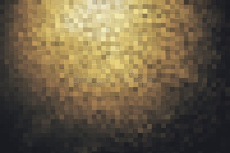 Abstract gouden mozaïekblok royalty-vrije stock afbeelding