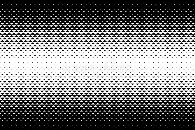 Abstract gradiëntpatroon met driehoeken Halftone textuur royalty-vrije illustratie