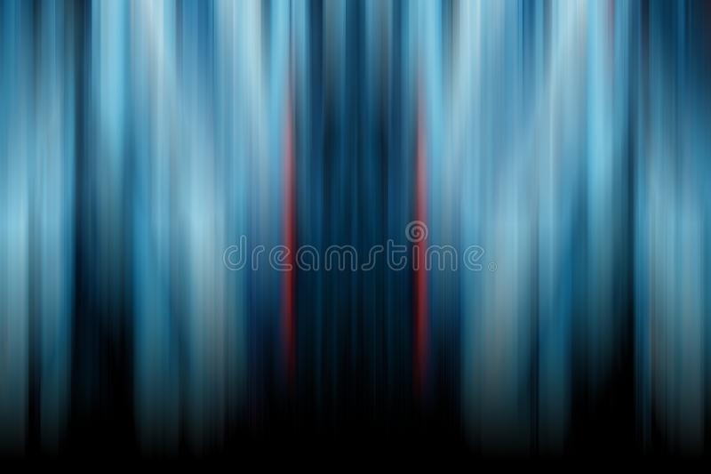 Abstract gradient  background in blue tones. Symmertic motion blur texture.  stock illustration