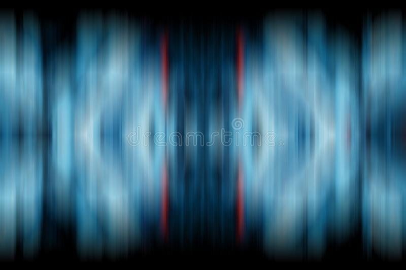 Abstract gradient  background in blue tones. Symmertic motion blur texture.  vector illustration