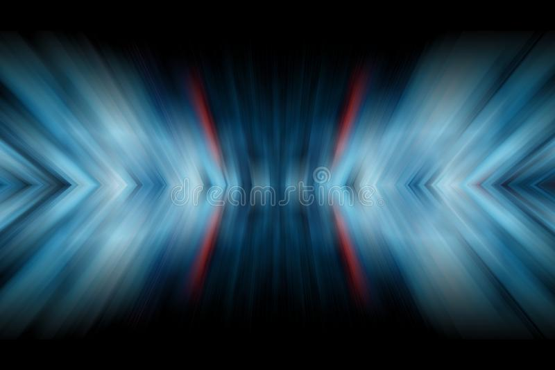 Abstract gradient  background in blue tones. Symmertic motion blur texture.  royalty free illustration