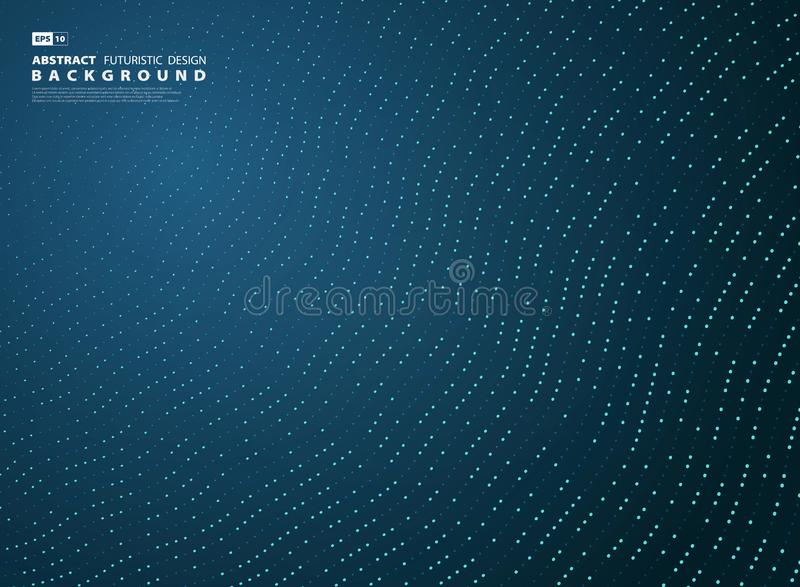Abstract gradient blue tech line decoration style background. illustration vector eps10 royalty free illustration