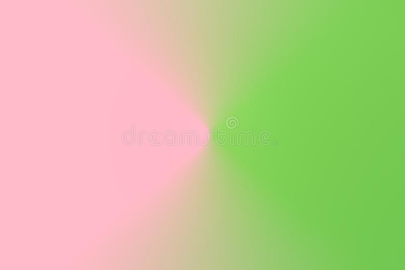 Abstract gradient blurred duotone light lettuce green pink background. Radial concentric pattern. Pastel Colors. Multifunctional fashion holiday arts backdrop royalty free stock image