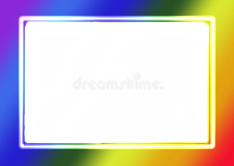 Abstract Gradient colorido arco-íris cores fundo quadro fotográfico com espaço de cópia ilustração stock