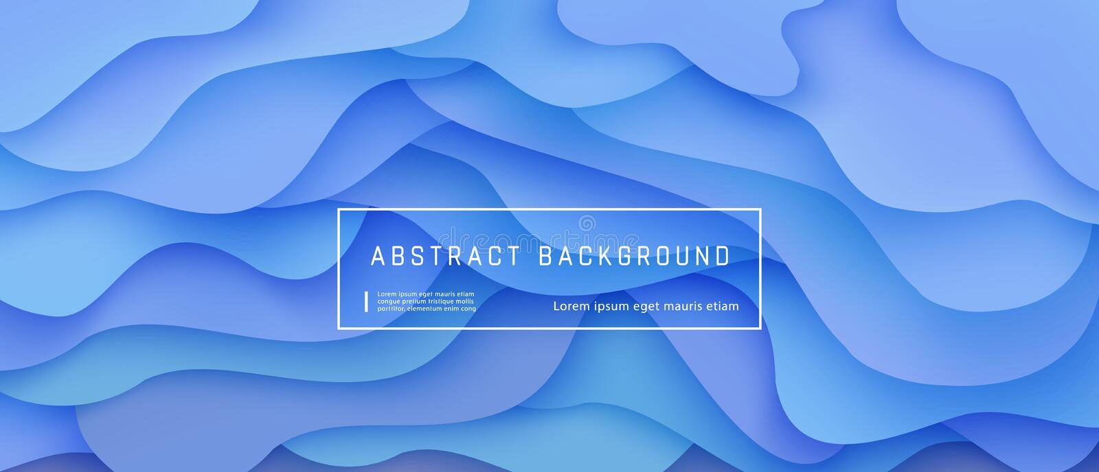 Abstract gradient fluid background with expressive blue wave motion flow and liquid shapes composition. Abstract gradient fluid background with expressive blue vector illustration