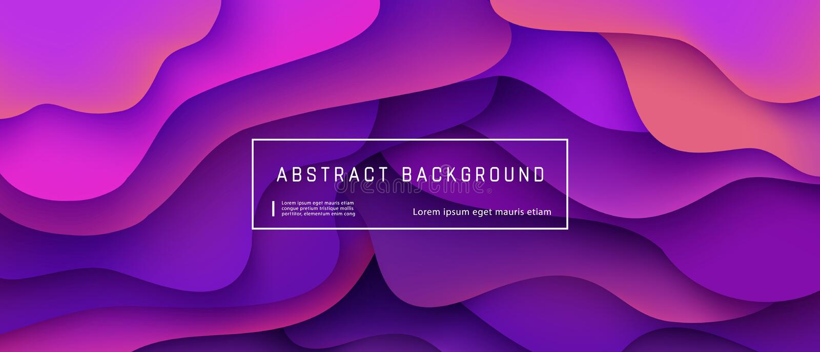 Abstract gradient fluid background with expressive purple wave motion flow and liquid shapes composition. Abstract gradient fluid background with expressive stock illustration