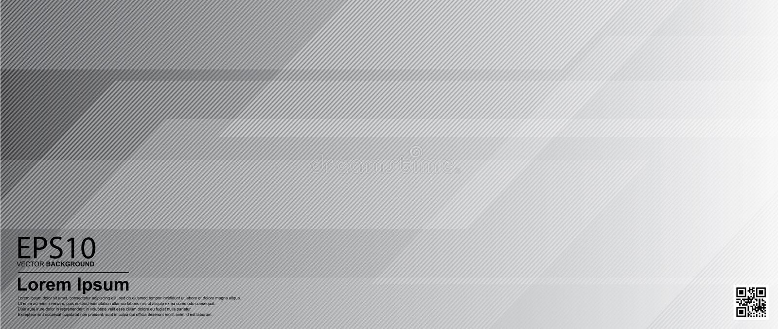 Abstract gradient gray color background / Poster, banner template stock illustration