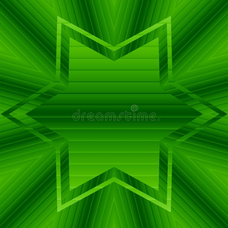 Abstract gradient pattern green swirls and star with copyspace. Abstract gradient green swirls and star with copyspace royalty free illustration