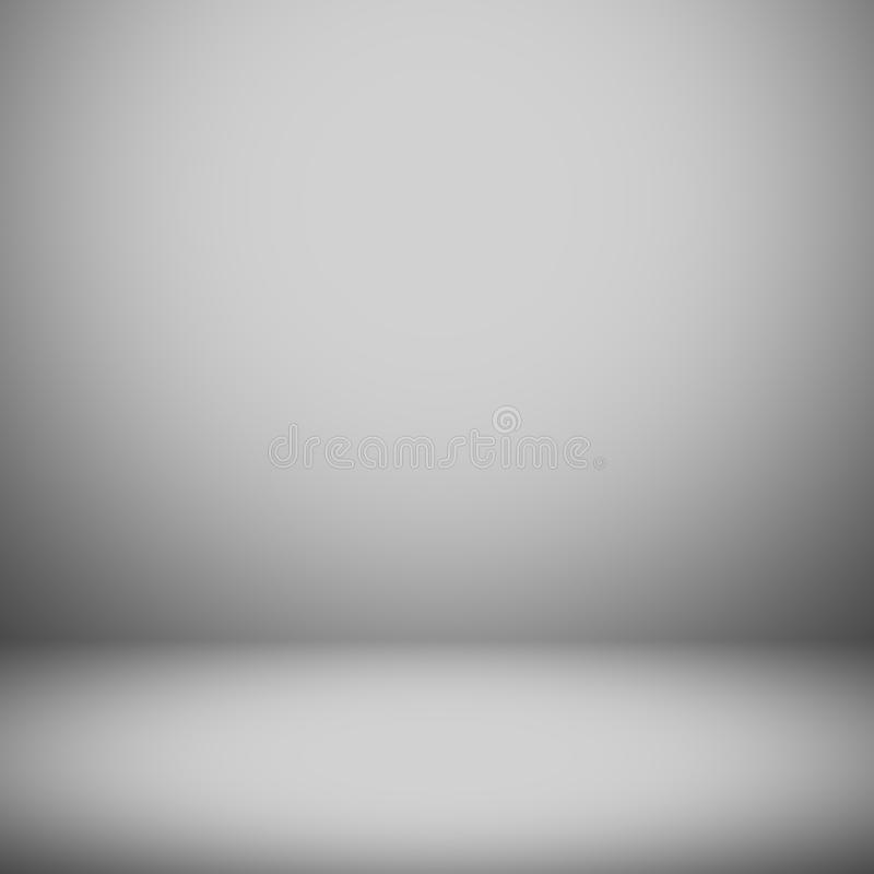 Abstract gradient grey room - display your products.  vector illustration