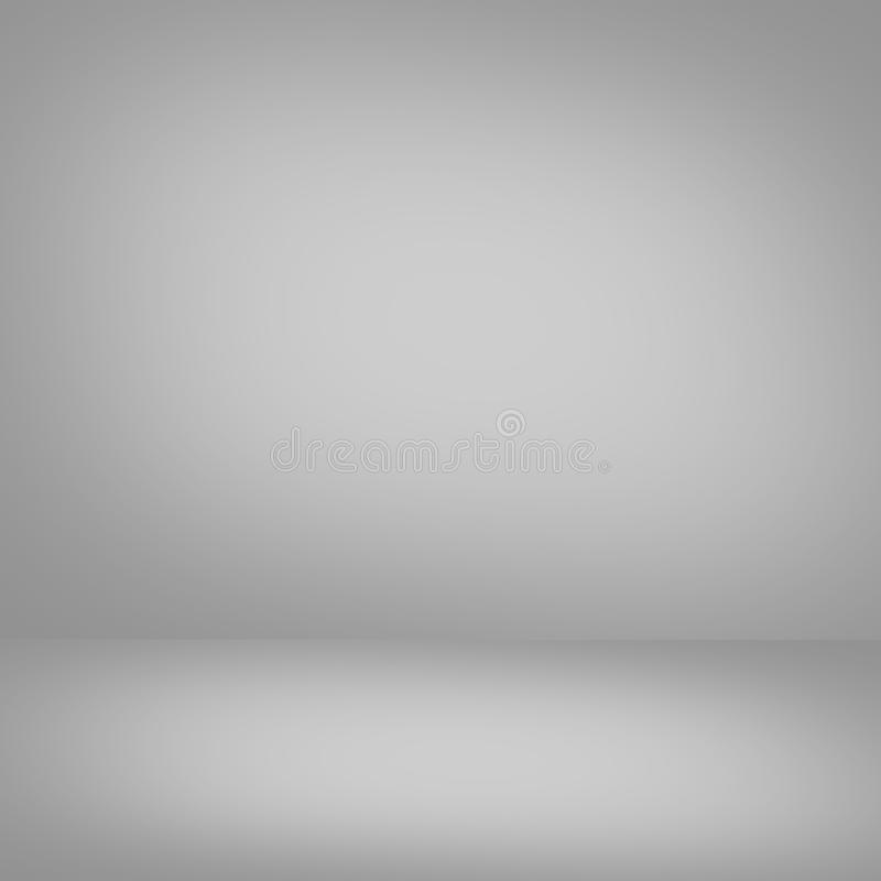 Abstract gradient grey room - display your products.  royalty free illustration