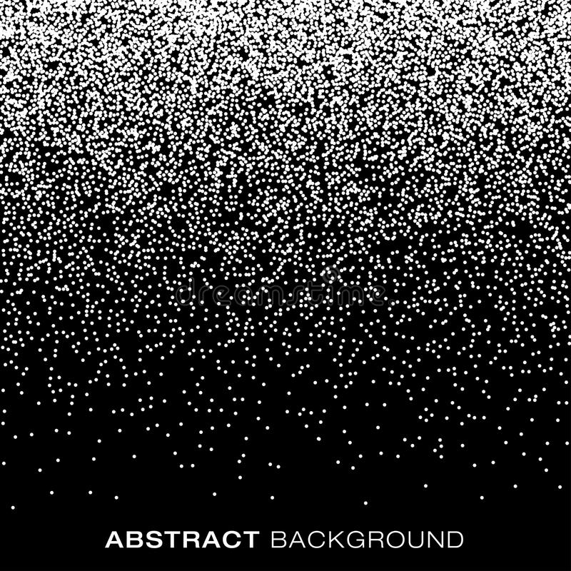 Abstract Gradient Halftone Snow Flake Dots Background royalty free illustration