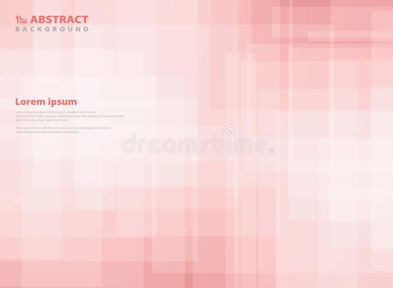 Abstract gradient pink square pattern background. You can use for paper design, ad, poster, print, cover vector illustration