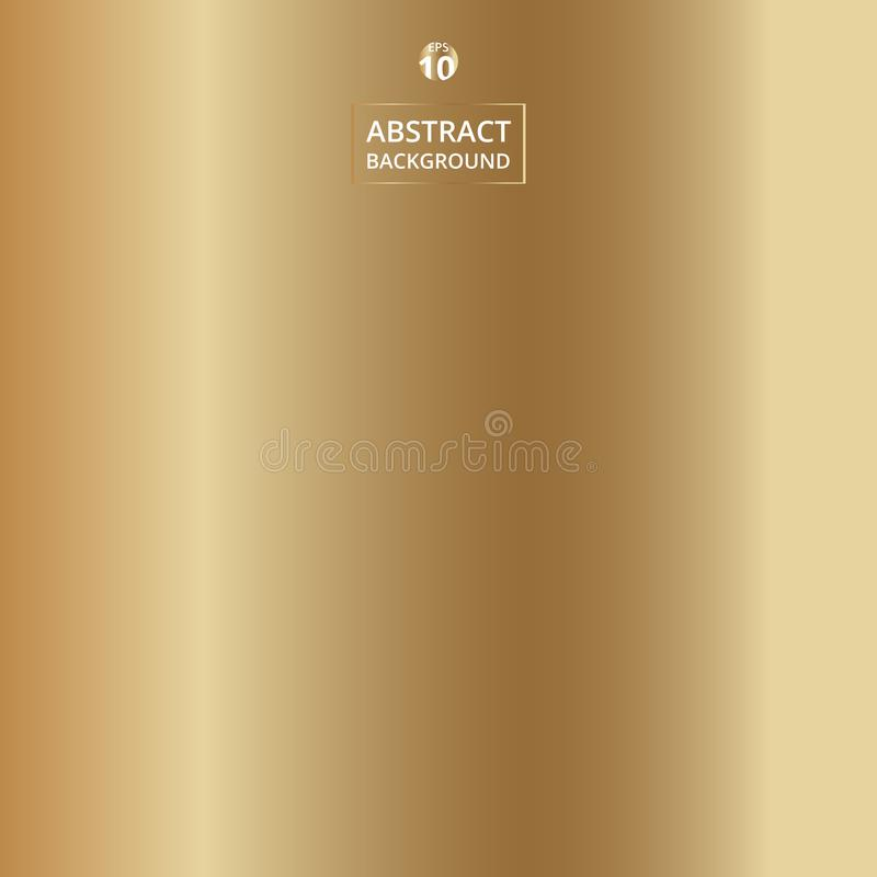 Abstract of gradient realistic gold color background. stock illustration