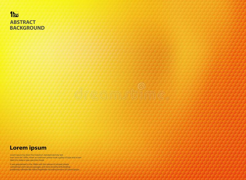 Abstract gradient yellow and orange colors with pentagon pattern texture. Vibrant high coloring use for brochure, poster, ad, annual report and magazine art vector illustration