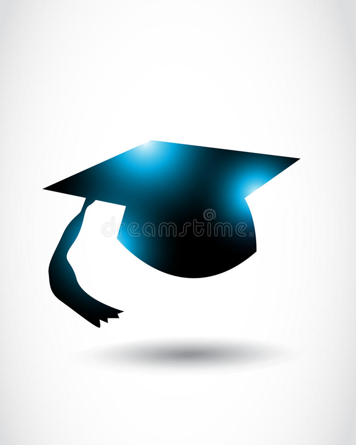 Download Abstract graduation cap stock vector. Image of knowledge - 26931369