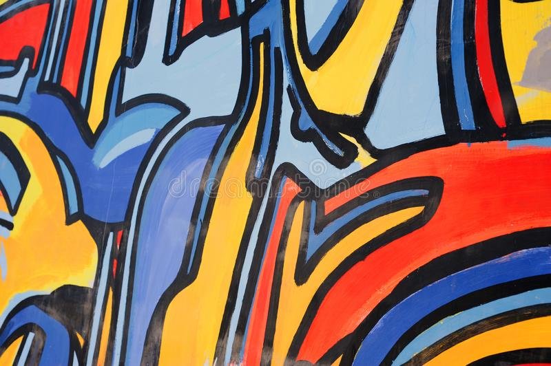 Abstract drawing on the wall,street art stock photography