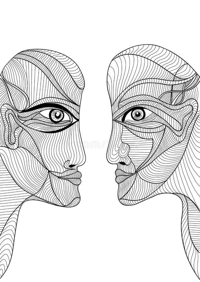 Abstract grafisch ontwerp met de mens en vrouw vector illustratie
