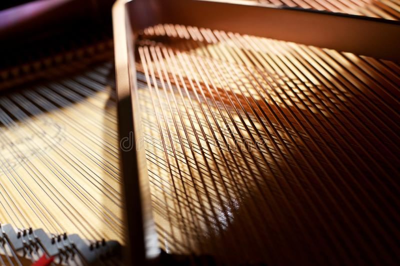 Abstract grand piano. Abstract concert grand piano strings royalty free stock image