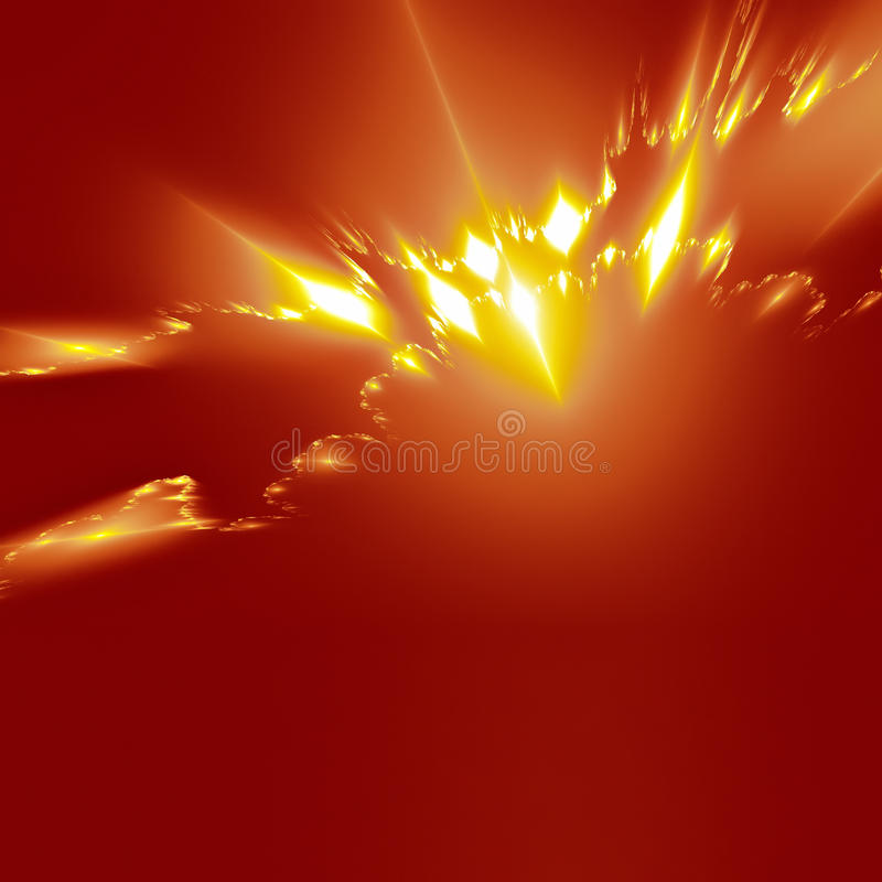 Abstract graphic. An illustration of a nice abstract red power lights background stock illustration