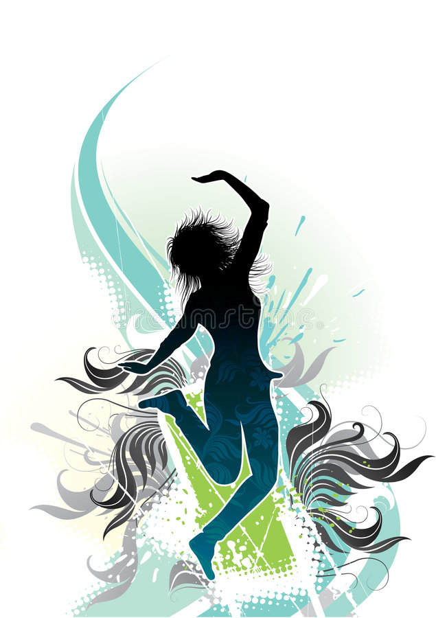 Download Abstract graphic of dancer stock vector. Illustration of funky - 5555486