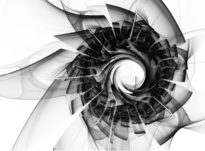 Abstract graphic illustration in black and white stock illustration