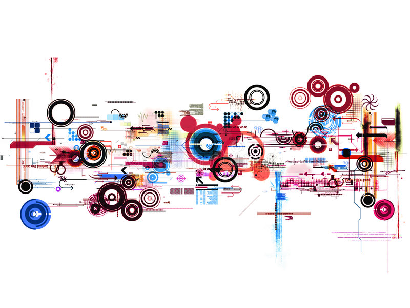 Abstract graphic montage royalty free stock photo