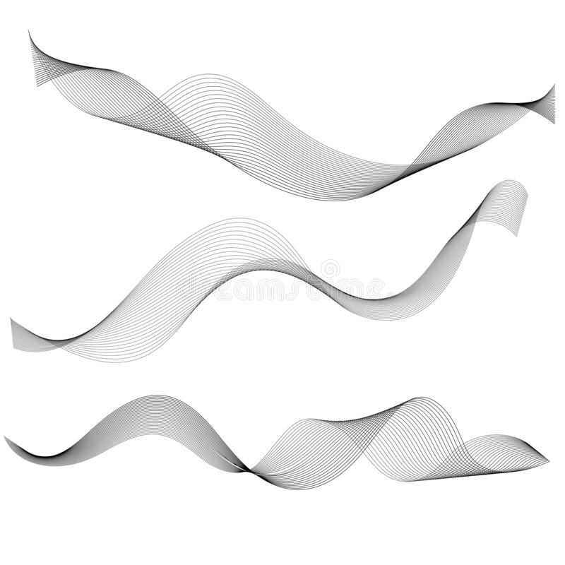 Abstract graphic waves and lines royalty free illustration