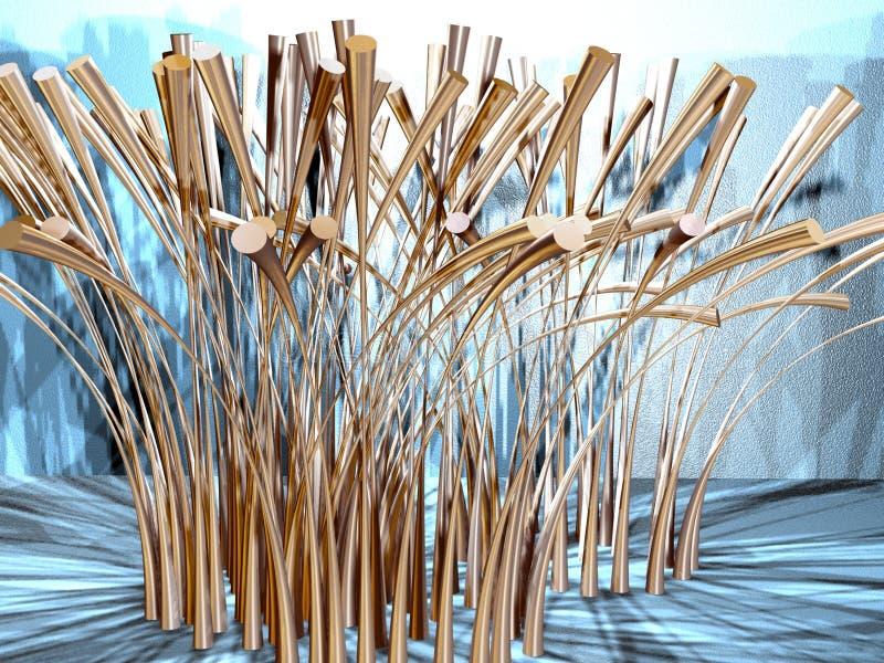 Abstract grass 2 stock illustration