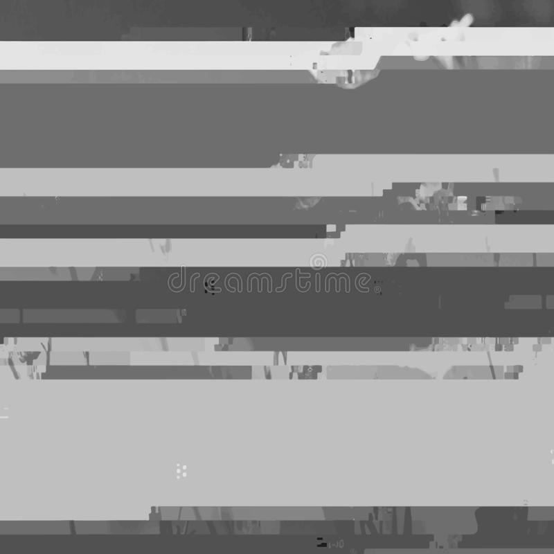 Abstract Gray Background with Glitch Effect. Modern Vector Illustration royalty free illustration