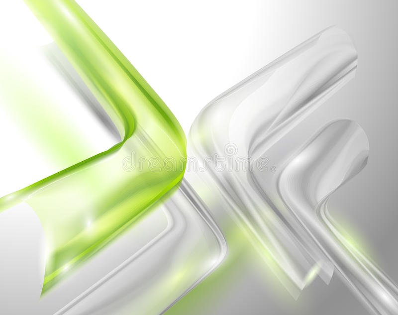 Abstract gray background with green elements. (eps10